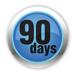 90 day money back guarantee logo